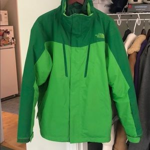 Green Men's NorthFace Ski Jacket